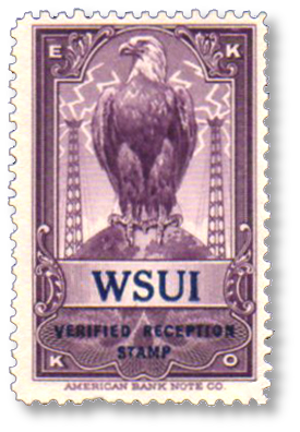 WSUI station stamp